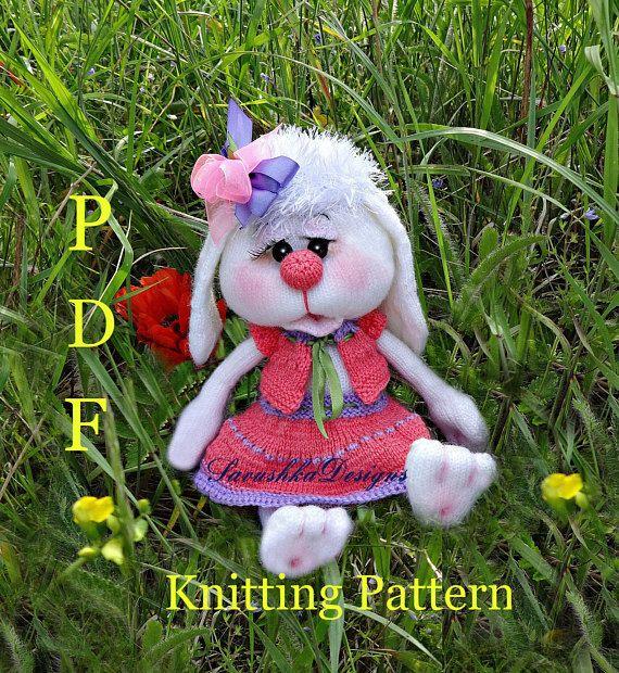 Knitting Pattern Bunny Rabbits Sophie Bunny Knitting Pattern