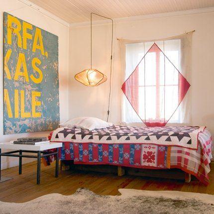 Une chambre d' amis en patchwork - Marie Claire Maison