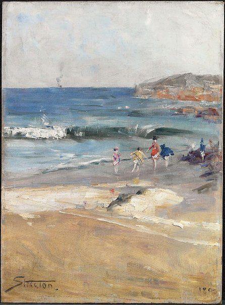 Beach scene by Arthur Streeton, 1890
