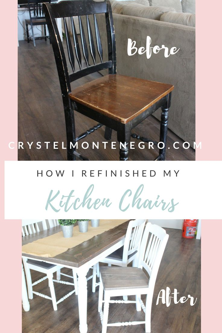 How to refinish kitchen chairs | kitchen chair makeover | DIY kitchen chairs