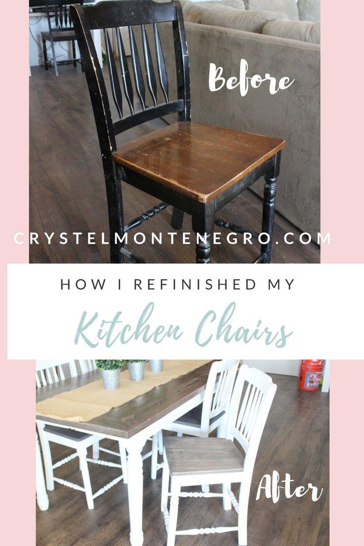 How to refinish kitchen chairs | kitchen chair makeover | DIY kitchen chairs