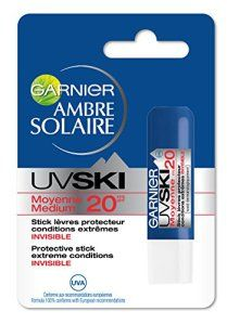 Garnier – Ambre Solaire – UV Ski – Stick Lèvres Invisible FPS 20 spécial Conditions Extrêmes – Lot de 2