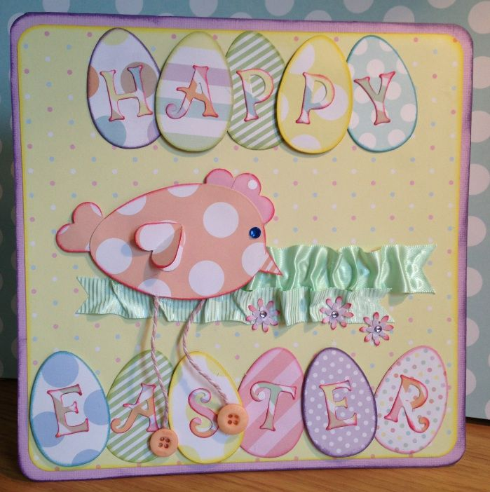 Free Card Making Ideas Part - 47: FREE Easter Card Idea | Cardmakingandpapercraft.com