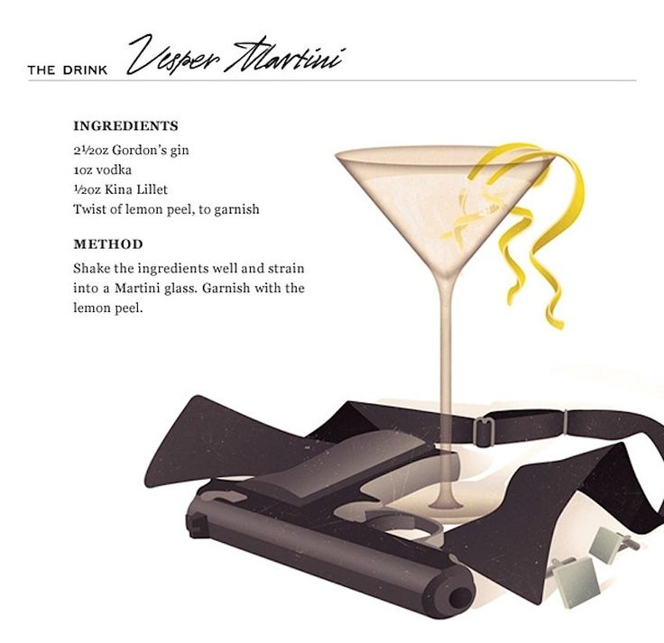 James bond martini quote for Cocktail 007 bond