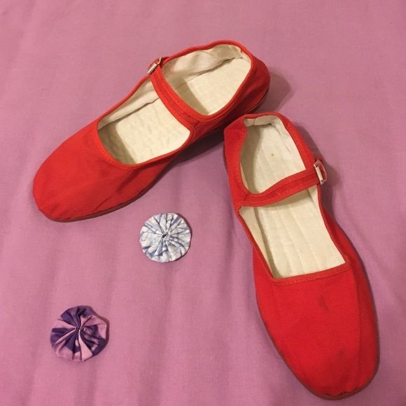 Red Women's Mary Jane Flats Red Mary Janes! never worn :-) Shoes Flats & Loafers