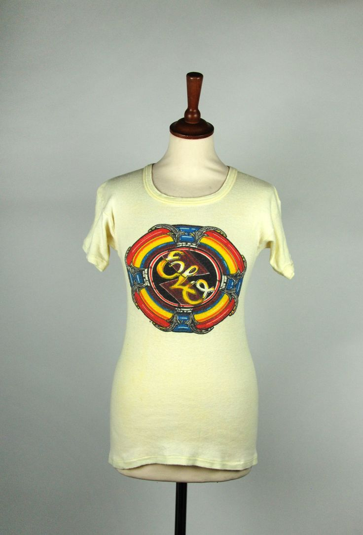 Orginial Electric Ligh Orchestra T-Shirt with 1976 Logo || ELO Band Tee by DesertMoss on Etsy