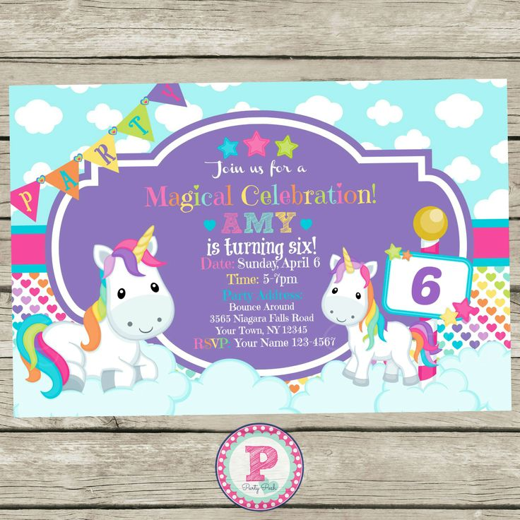 17 best Unicorn Party Ideas images – Unicorn Birthday Party Invitations