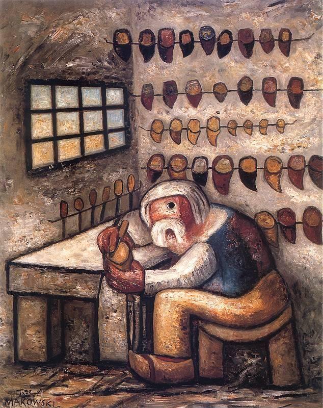 Shoemaker, Makowski Tadeusz. Polish (1882 - 1932)