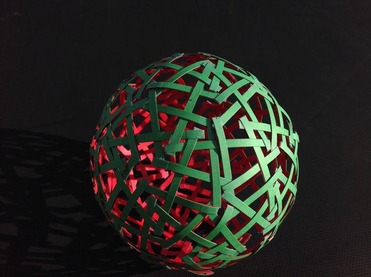 Woven temari sphere pattern
