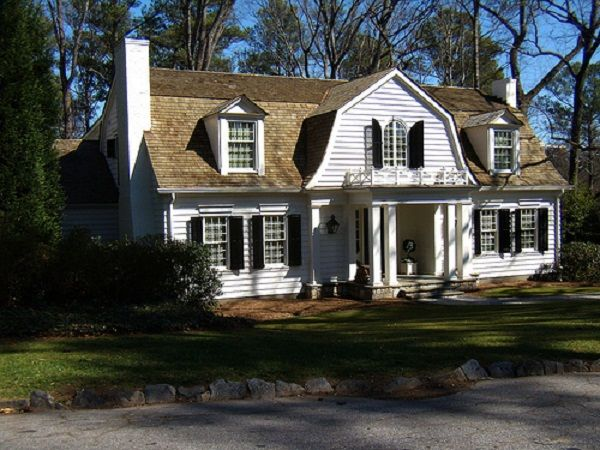 Dutch colonial house plans with modern touch brown roof for Modern colonial house plans
