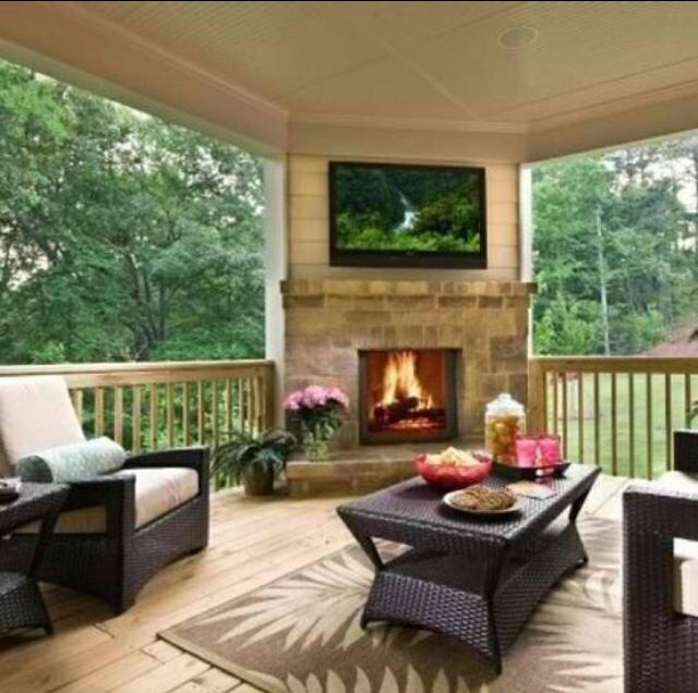 Amazing Nice Covered Deck Design Inspirations