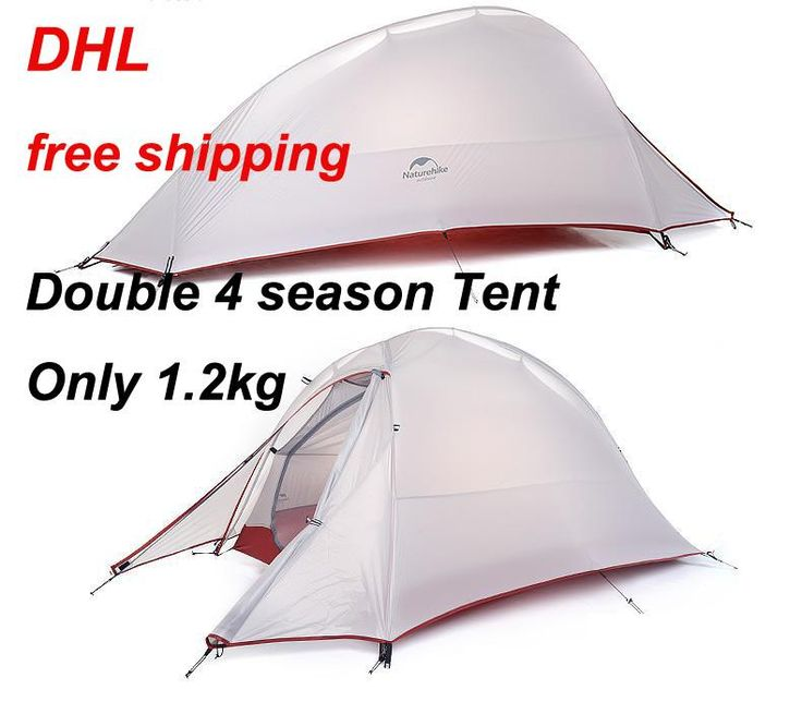 [Visit to Buy] 2017 DHL free shipping NatureHike 2 Person Tent ultralight 20D Silicone Fabric Tents Double-layer Camping Tent Outdoor Tent #Advertisement