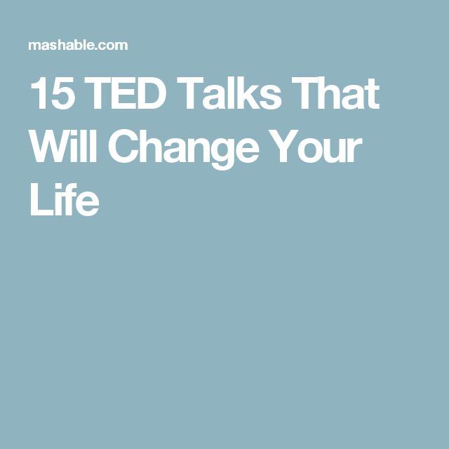 15 TED Talks That Will Change Your Life