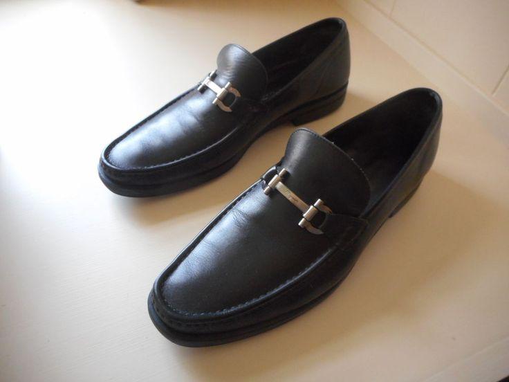 Loafers for Men On Sale, Black, Leather, 2017, 10.5 Salvatore Ferragamo
