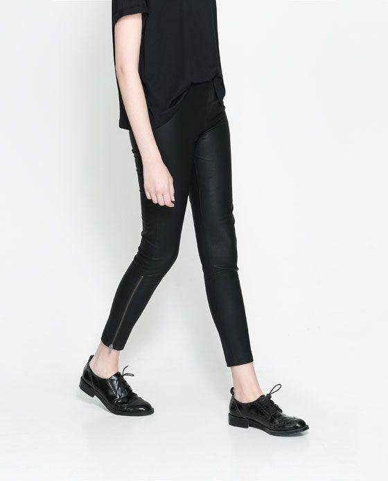 ZARA - 今週の新商品 - 人工皮革ジップパンツ