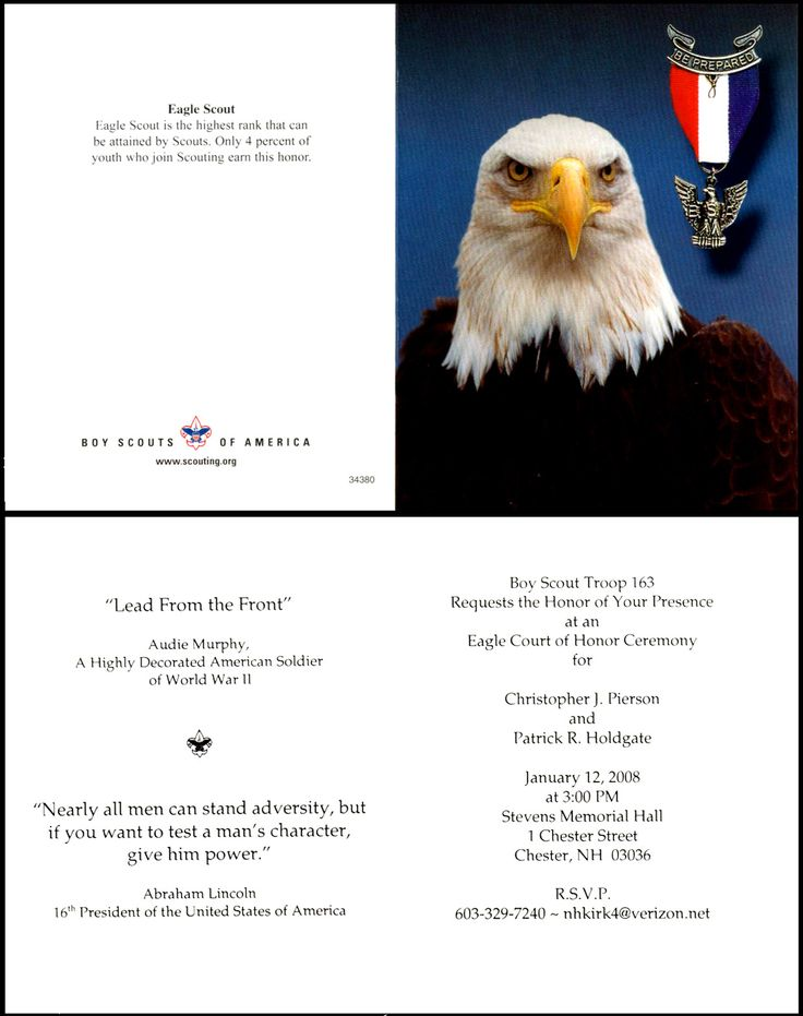 Great Eagle Court of Honor | Eagle court of honor ...