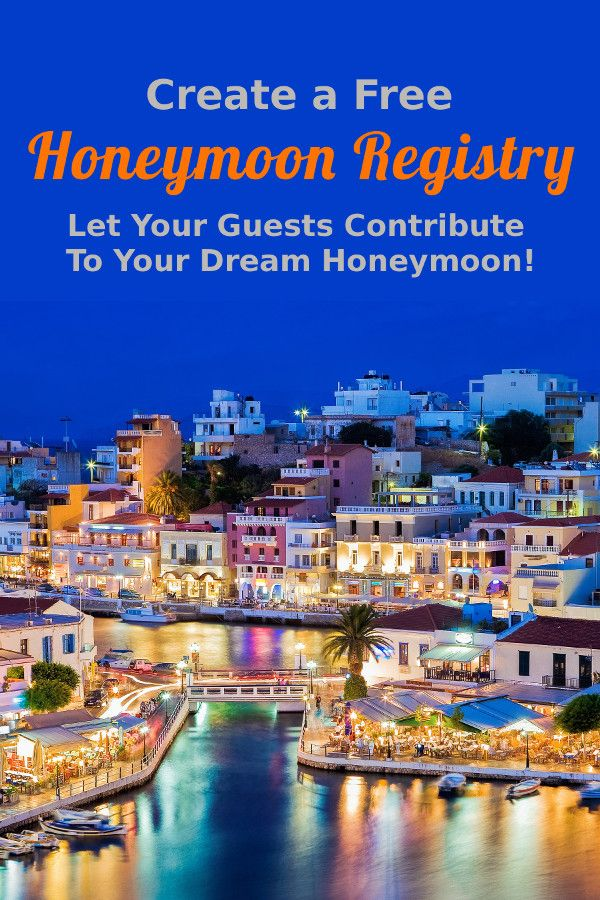 Pair your traditional registry with a Honeymoon Registry! Let your guests contribute to fun honeymoon adventures.