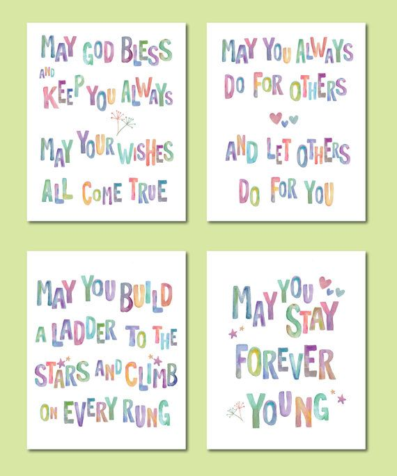 Bob Dylan May You Stay Forever Young/ Set of 4 by DesignCreatives