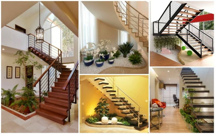Ideas decorar bajo la escalera con guijarros y plantas for Plantas para escaleras interior
