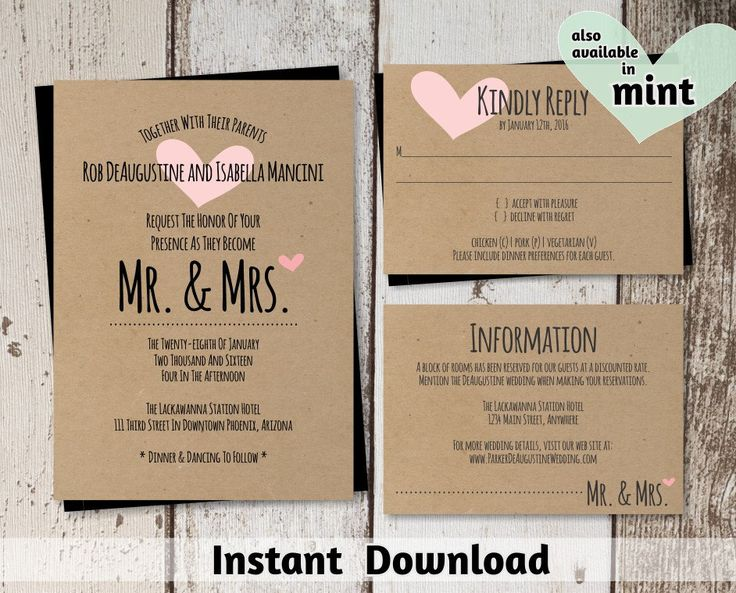72 best Wedding invitation templates images on Pinterest Wedding - best of wedding invitation design download