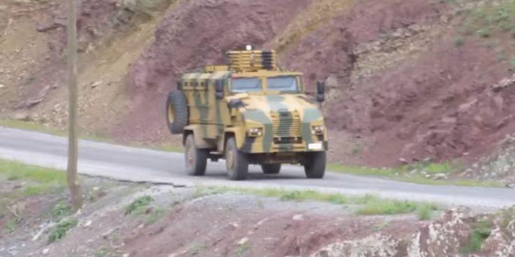 Rebeldes kurdos publican video de explosión de un vehículo del Ejército Turco