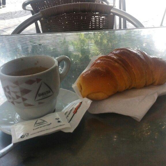 Croassants and cafe, Lisbon