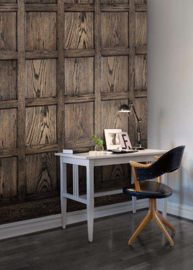 Les 25 meilleures id es concernant papier peint imitation bois sur pinterest - Papier peint effet matiere ...