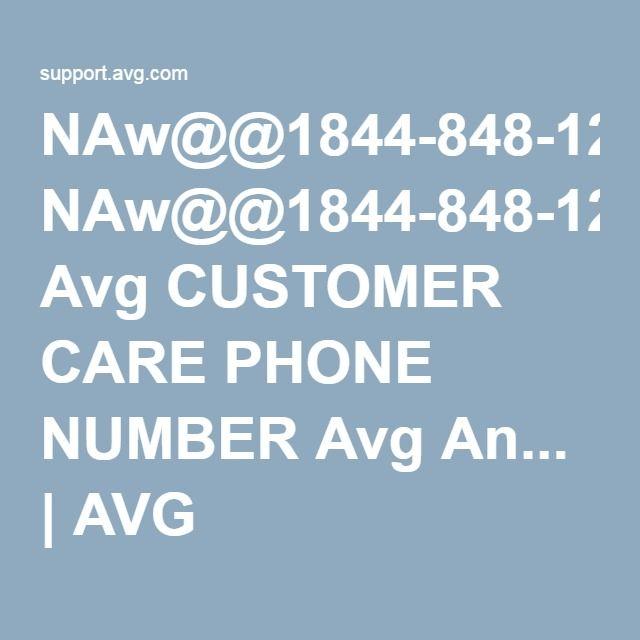 NAw@@1844-848-1262 Avg CUSTOMER CARE PHONE NUMBER Avg An... | AVG