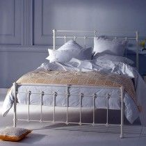 Edan Cast Bed Head - Queen Size Glossy Ivory