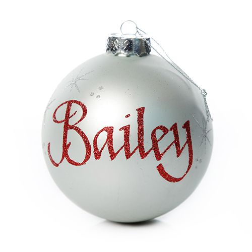 Silver Glass Personalised Christmas Bauble | The Christmas Cart