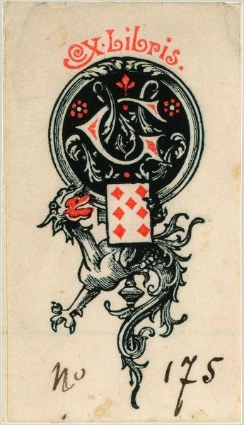 Ex libris du collectionneur Georges Marteau Jeu de cartes aux enseignes latines Venise, 1753. BnF, Département des Estampes et de la photogr...
