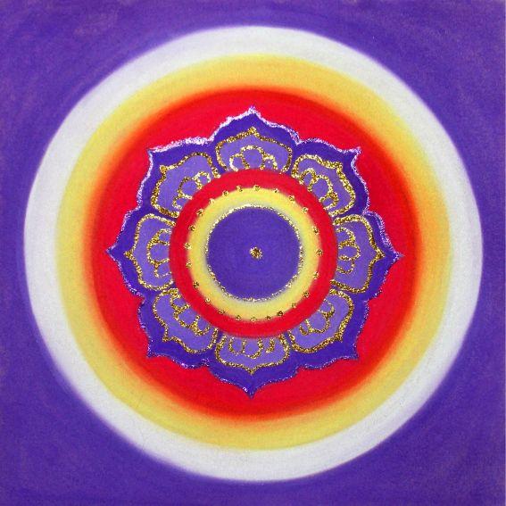 Mandala Osobisty Talizman Alicji - malowana na zamówienie.