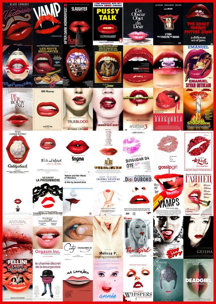 Worst movie poster design cliches. Sexy lips.