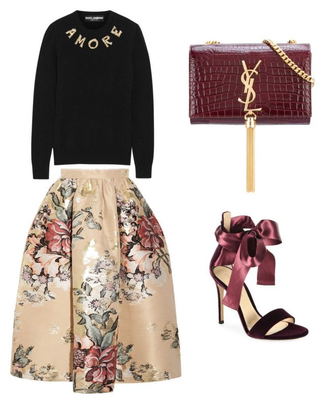"""""""Untitled #936"""" by mchlap on Polyvore featuring Fendi, Dolce&Gabbana, Gianvito Rossi and Yves Saint Laurent"""