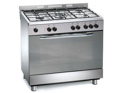 Maxi cuisinière 90cm TRIUMPH TNCG90X gaz four catalyse coloris inox prix soldes Conforama 470.31 € TTC au lieu de 699.00 €