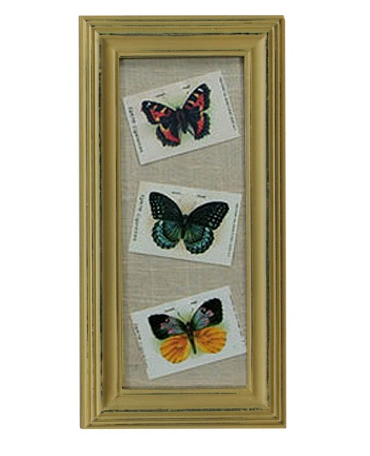 $13.50 {Vintage Charm} Tokio Butterflies in a Distressed Frame ~Enjoy one decor deal a day from WUSLU ~www.wuslu.com: Frame Enjoy, Decor Deal, Daily Deals, Distressed Frames, Vintage Charm