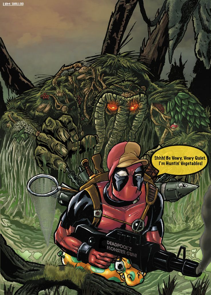 Man-Thing vs. Deadpool  p.s. Deadpool wins