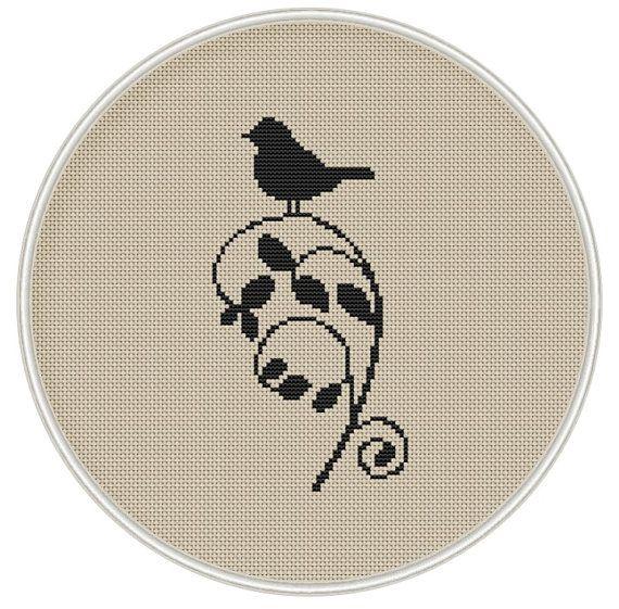 Cross stitch pattern cross stitch bird on by MagicCrossStitch