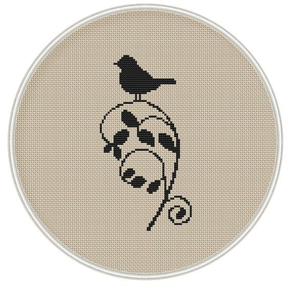 Cross stitch pattern cross stitch bird on by MagicCrossStitch