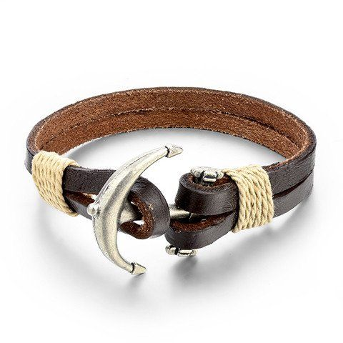 Anchor Leather Men's Bracelet - Rebel Style Shop - Wear the symbol of strength wherever you go with this manly, leather bracelet. A suitable accessory for your grunge, punk or goth looks, the bracelet can also be worn with everyday casual looks. The leather chain comes in black or brown, and is designed with raw edges for a rugged look.