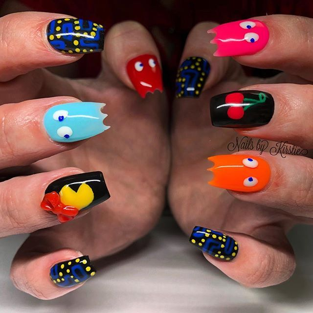 The 25 best pac man nails ideas on pinterest mens nails men when your client wants pac man nails inky pinky blinky clyde gelnails nails nailart gel naildesign nailswag nailporn pacman gameboy prinsesfo Image collections
