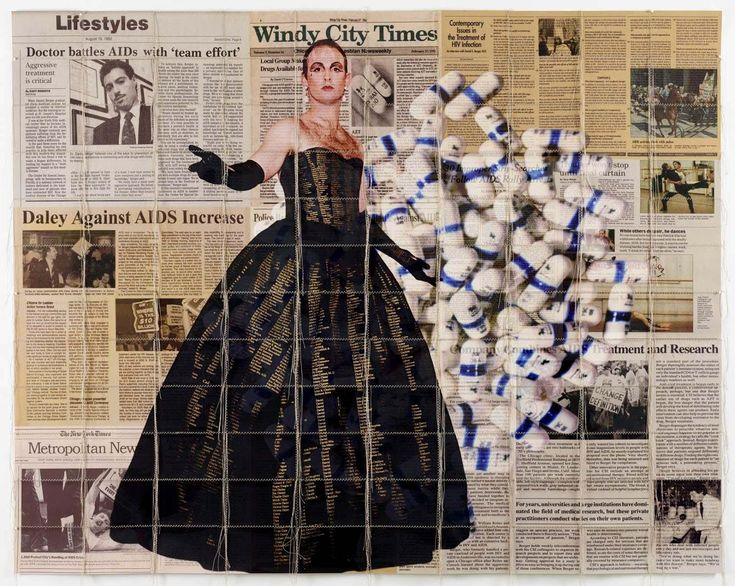 Survival AIDS (ACT Up Chicago with Memorial Dress photographed by Maxine Henryson) 2015
