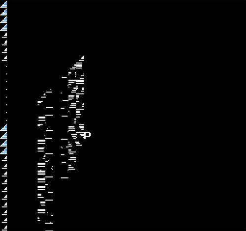 Megaman NES rom startup glitches.