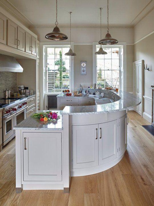 attractive Curved Kitchen Island #7: 17 Best ideas about Curved Kitchen Island on Pinterest | Kitchen islands,  Kitchen layouts and Kitchen floor plans