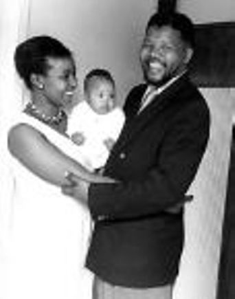 Nelson and Winnie Mandela with their Baby.  Life under apartheid.   http://www.squidoo.com/Nelson-Mandela-s-autobiography