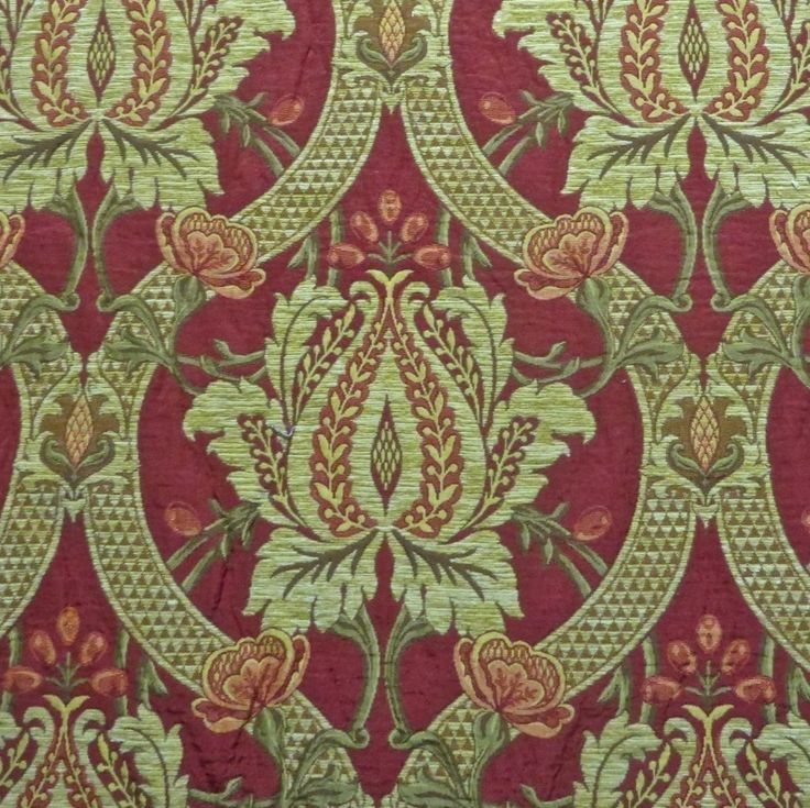 15 yards majestic victorian gothic chenille accented pocket weave upholstery fabric