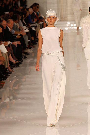 Ralph LaurenSummer Fashion, Summer Wear, Summer Outfit, 1920S Style, White Pants, Fashion Ralph Lauren, Ralph Lauren Spring 2012, Fashion Looks, White Ralph