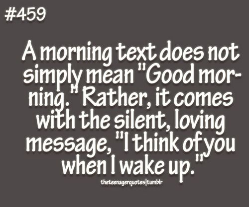 A morning text.....