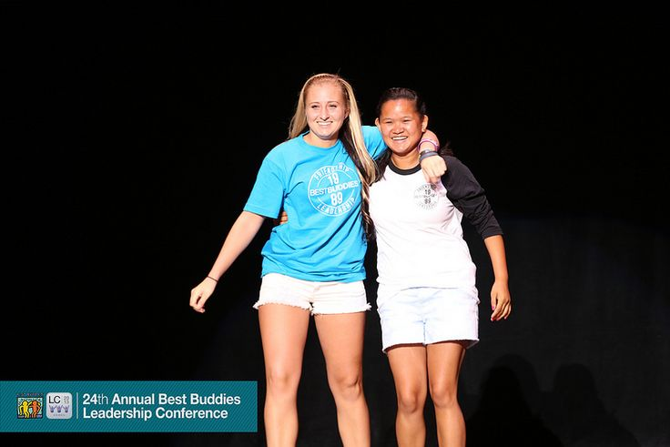 We love this picture from the Fashion Show at BBLC 2013! What does hanging out with your buddy mean to you? #BestBuddies #BBLC2013 #ootd
