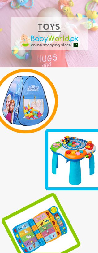 Now you can buy toys online across Pakistan on Babyworld at very reasonable prices from popular brands like Disney, Winfun, Intex, Llittle Star etc.  Order Online > http://babyworld.pk/23-toys